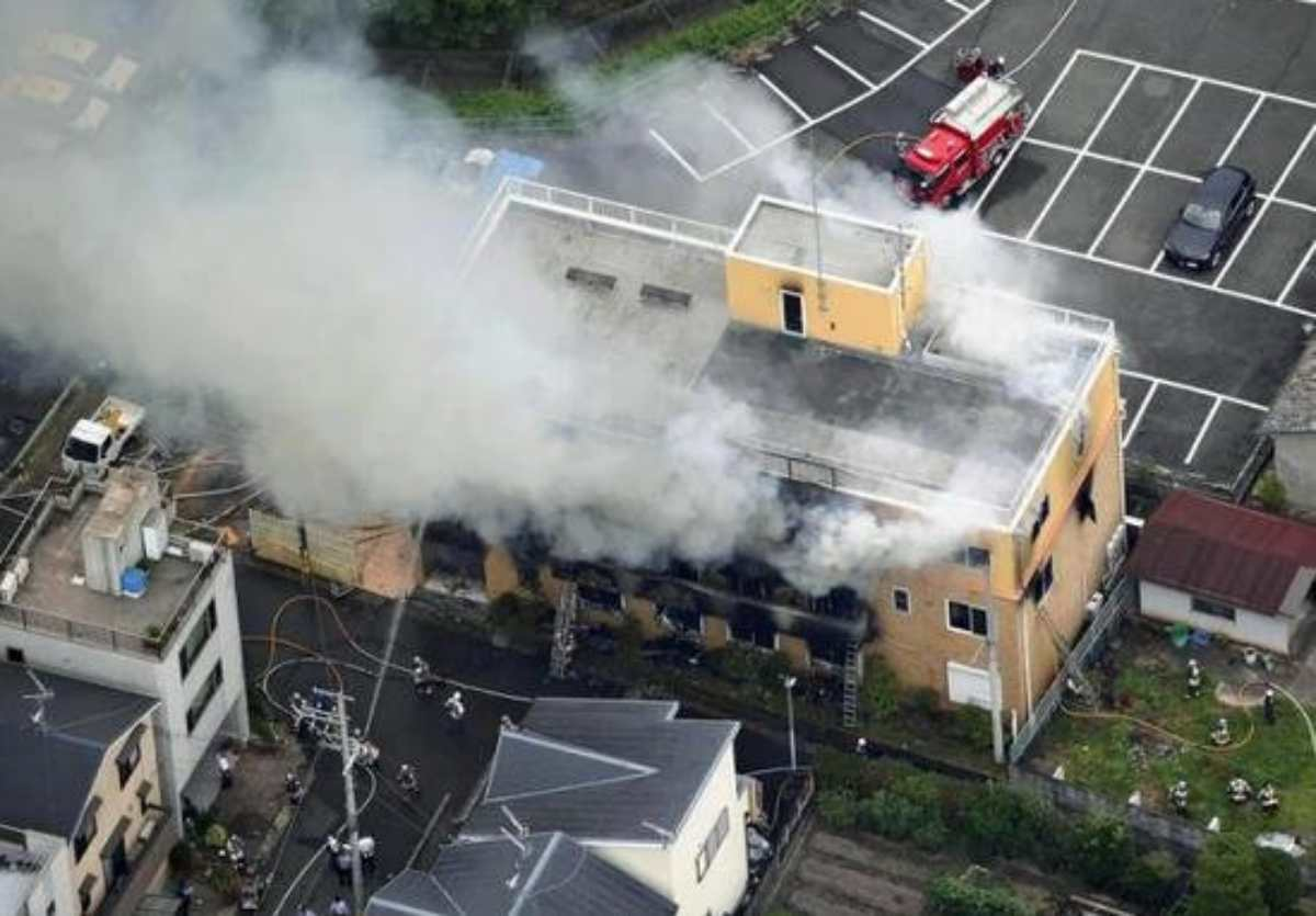 incendio giappone kyoto animation