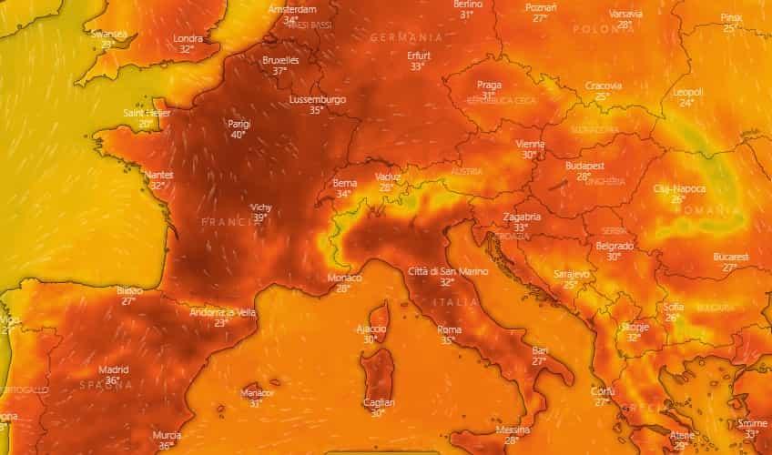 caldo europa luglio