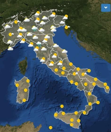 meteo italia oggi