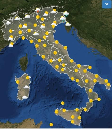 meteo italia domani