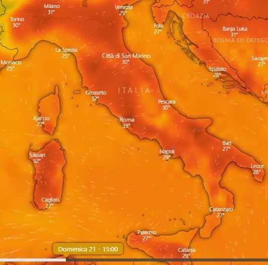 temperature weekend italia