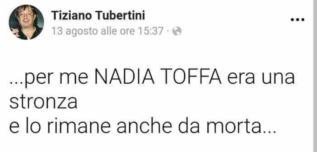 Nadia Toffa insulti