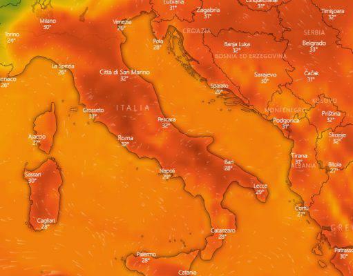 meteo temperature agosto 20