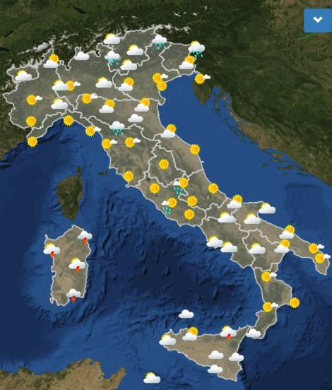 meteo domani italia