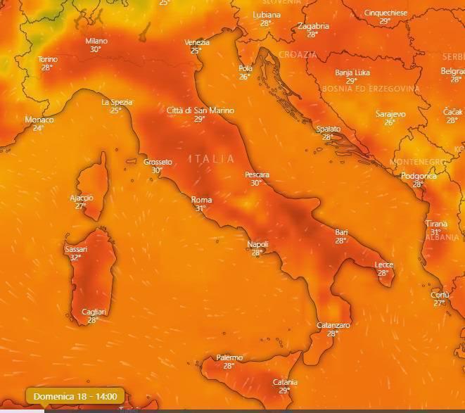 meteo weekend agosto italia