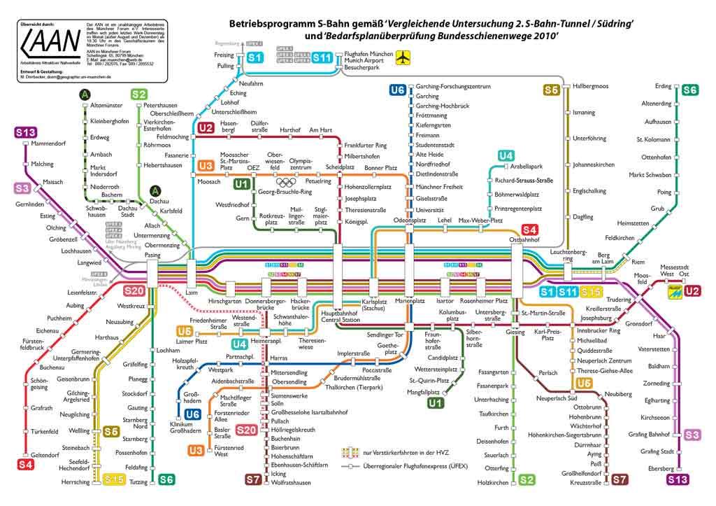 mappa metro monaco di baviera