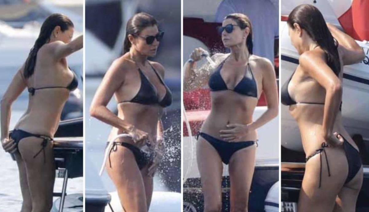 Ilaria D'Amico incinta barca