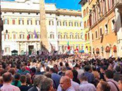 Manifestazione di protesta governo