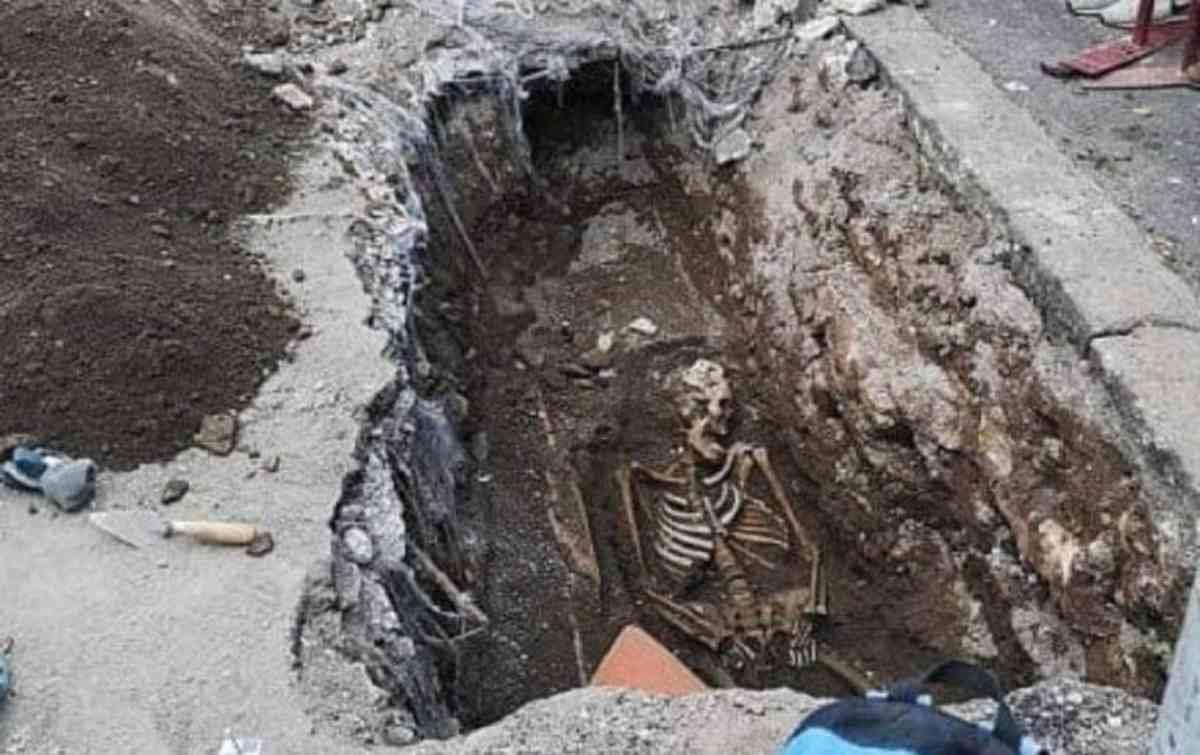 Scheletro trovato a Roma