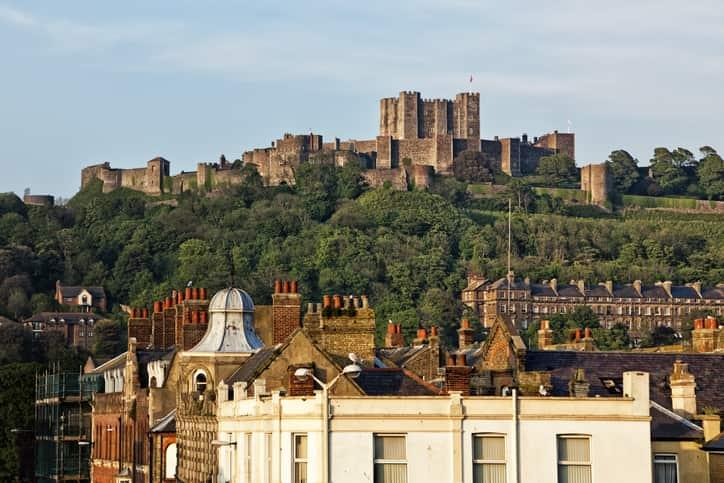 Castello di Dover vicino Londra