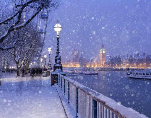 londra dicembre neve
