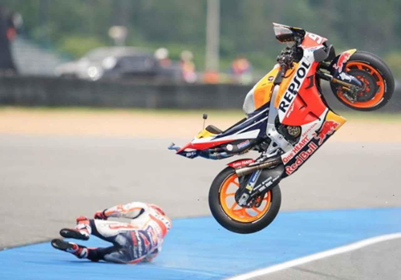 Marc Marquez caduta