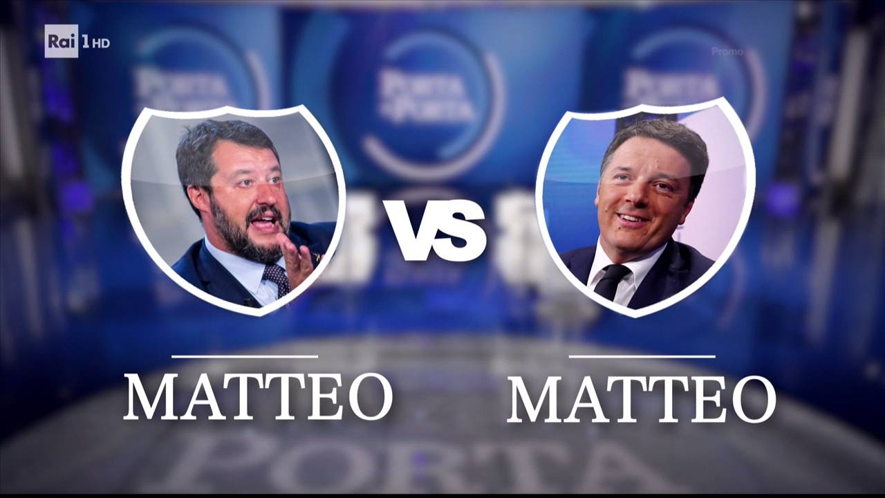 Porta a Porta, Salvini contro Renzi: lo scontro tv si ripete a 10 anni di distanza