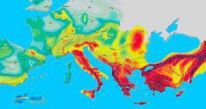 mappa sismica europa