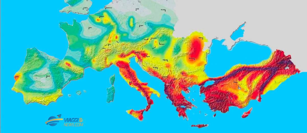 Cartina Zone Sismiche Italia.Mappa Sismica In Europa Quali Sono Le Nazioni Piu A Rischio Terremoto