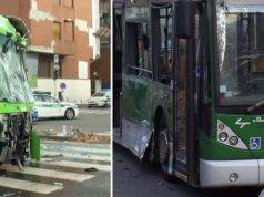 Milano: violento scontro tra autobus e camion dei rifiuti, i