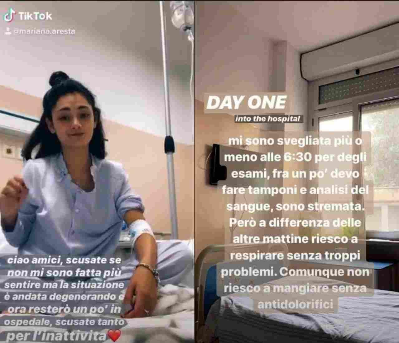 Mariana Aresta ospedale