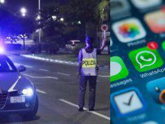 Gruppo WhatsApp segnala i posti di blocco: secondo il giudic