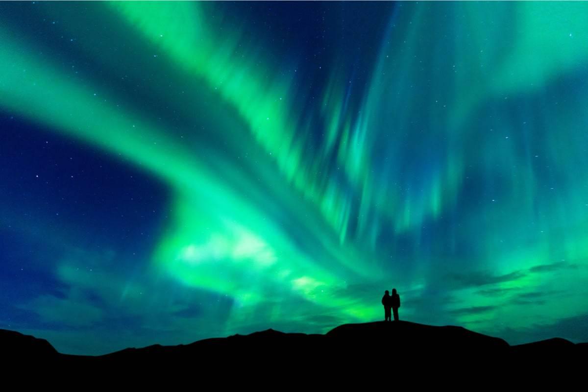 aurora boreale distanza