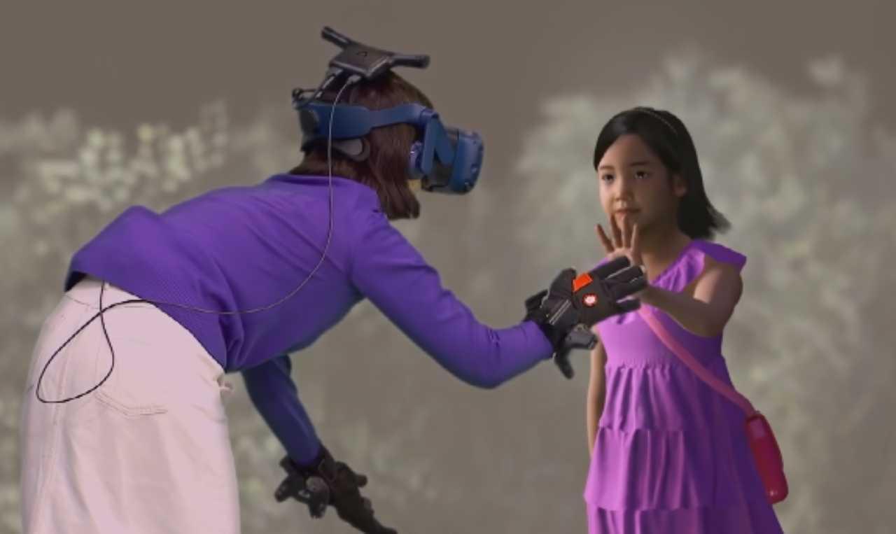 Realtà virtuale bambina morta