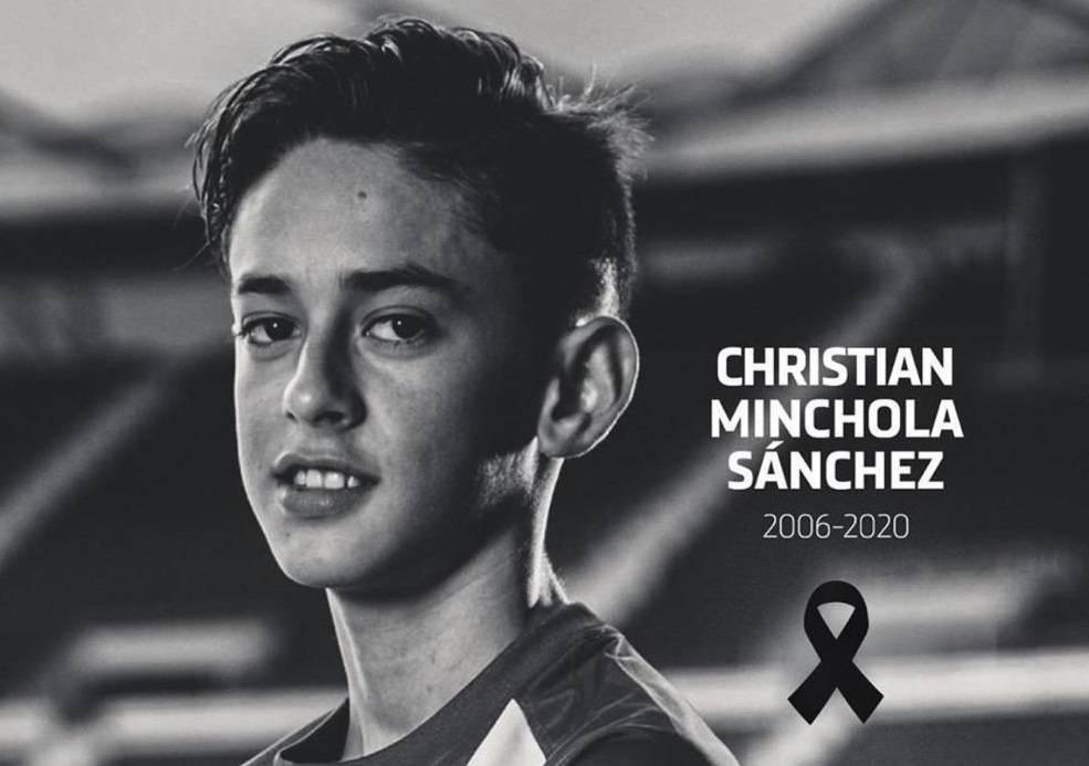 Lutto in casa Atletico Madrid: è morto Christian Minchola, calciatore 14enne