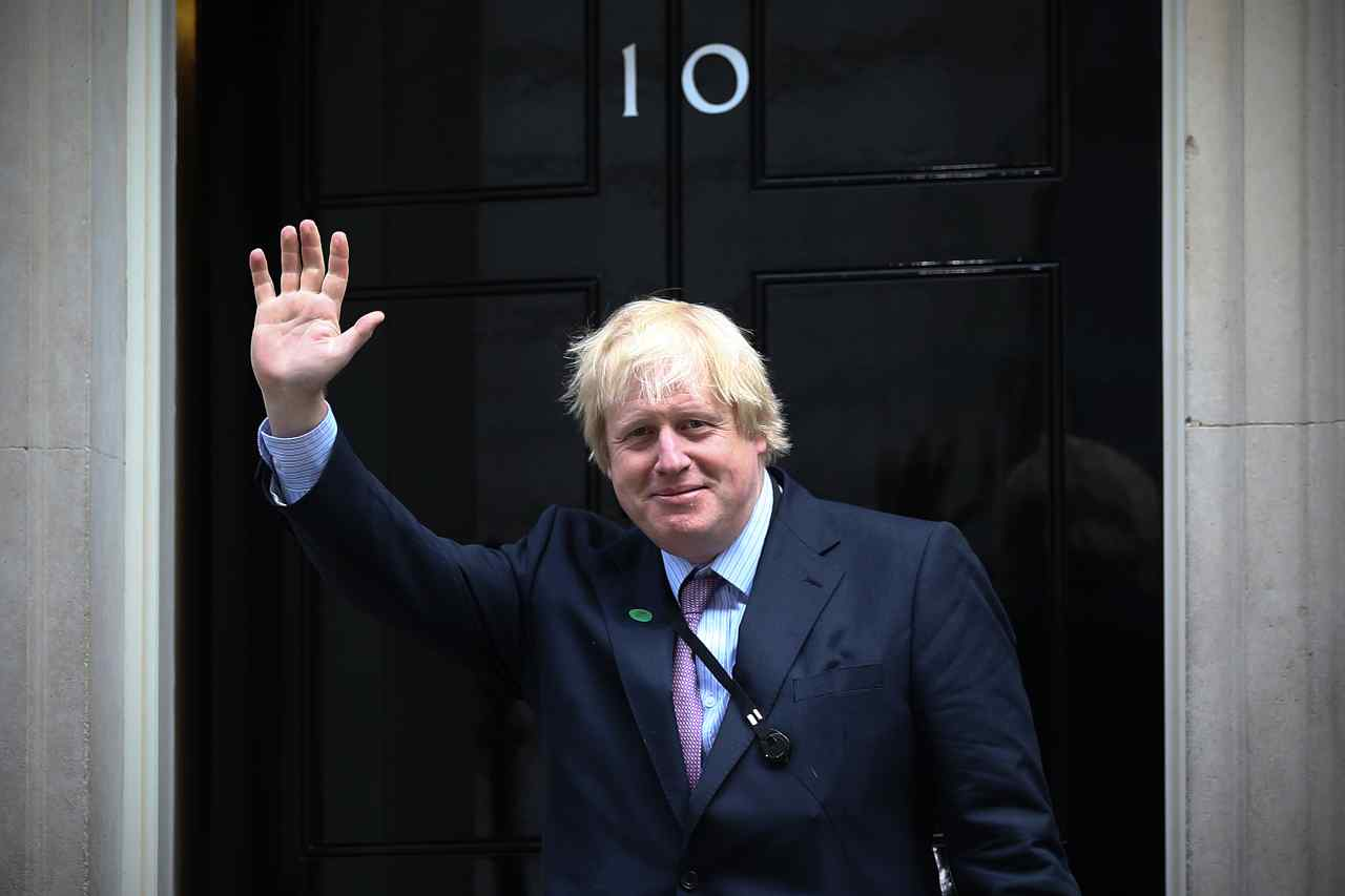 Boris Johnson dimesso
