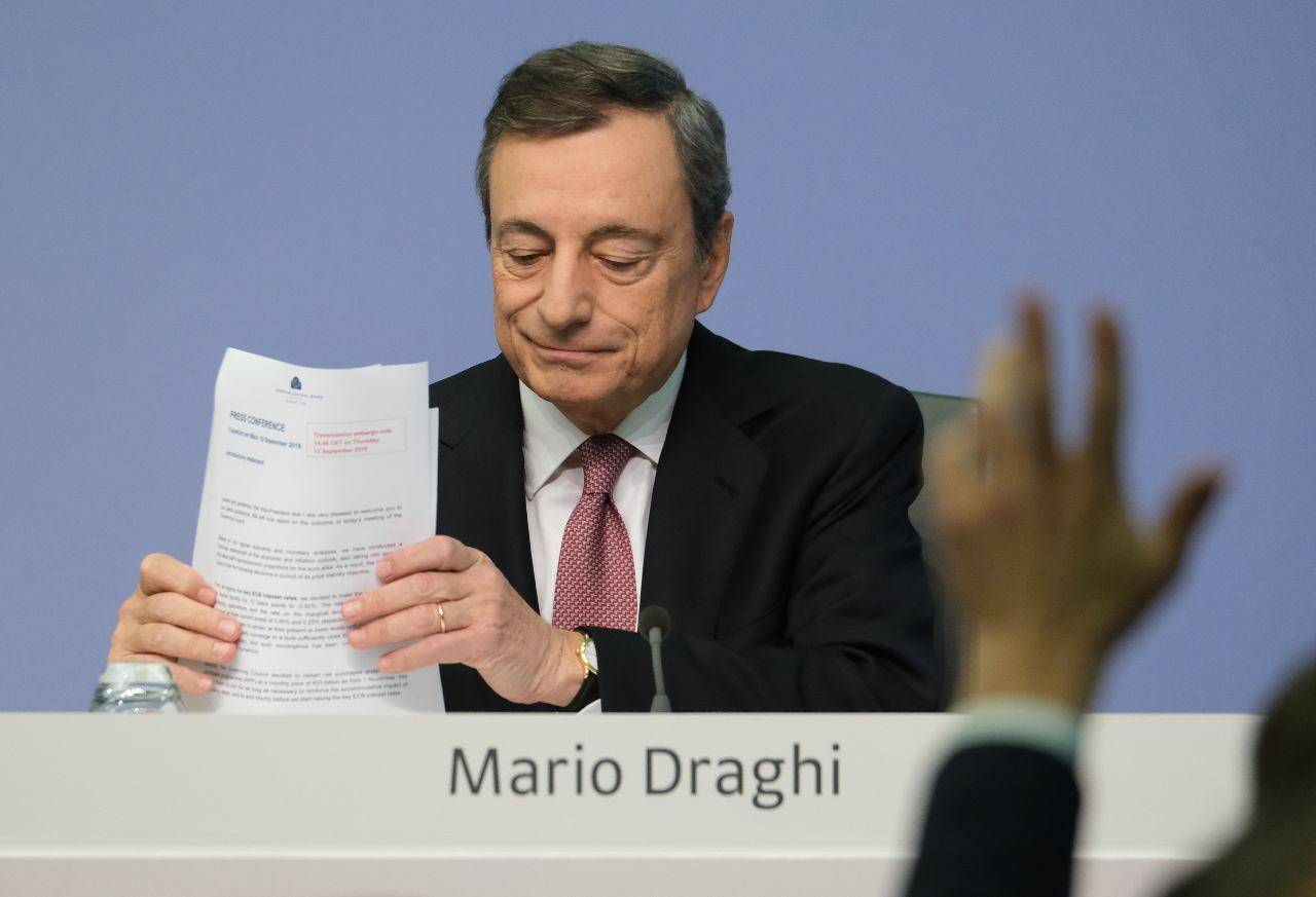 Mario Draghi incendio