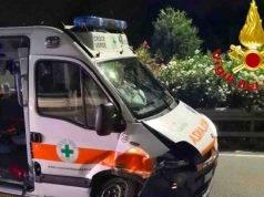Incidente ambulanza   schianto durante la corsa in ospedale