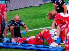 Atalanta Napoli, grave infortunio per Ospina: sangue dalla t