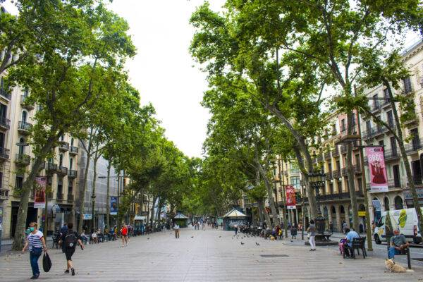 la rambla vuota: vacanze 2020 a Barcellona