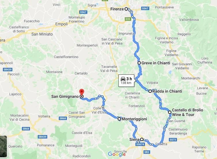 itinerario toscana