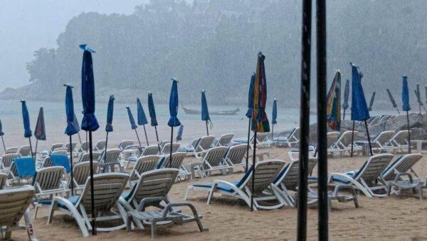 maltempo in spiaggia