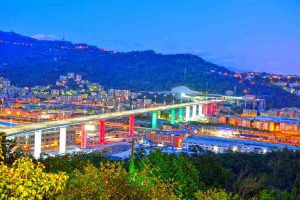 Ponte di Genova, Mina e Vasco cantano De Andrè