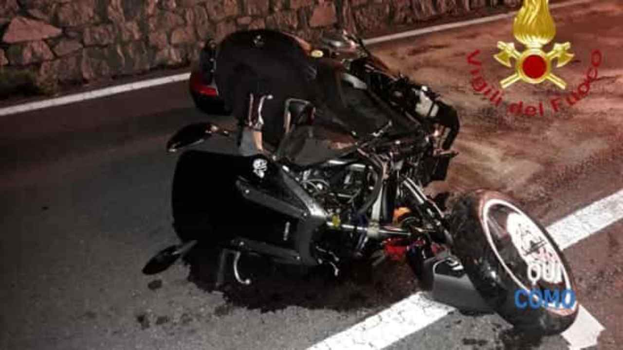 Incidente in moto Olbia