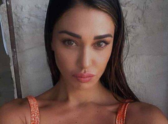 Belen Rodriguez, lo shooting in Puglia