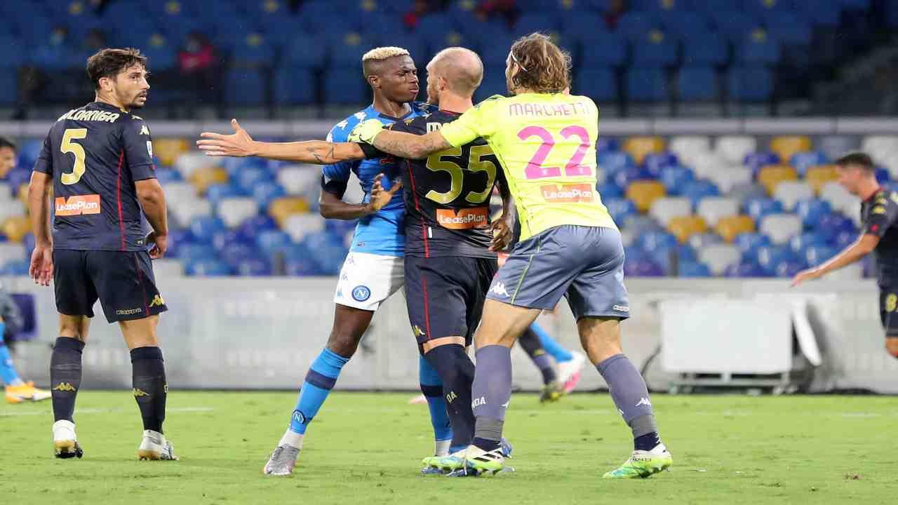 sospensione campionato Napoli Genoa