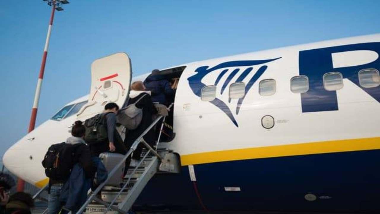 Passeggero Ryanair positivo