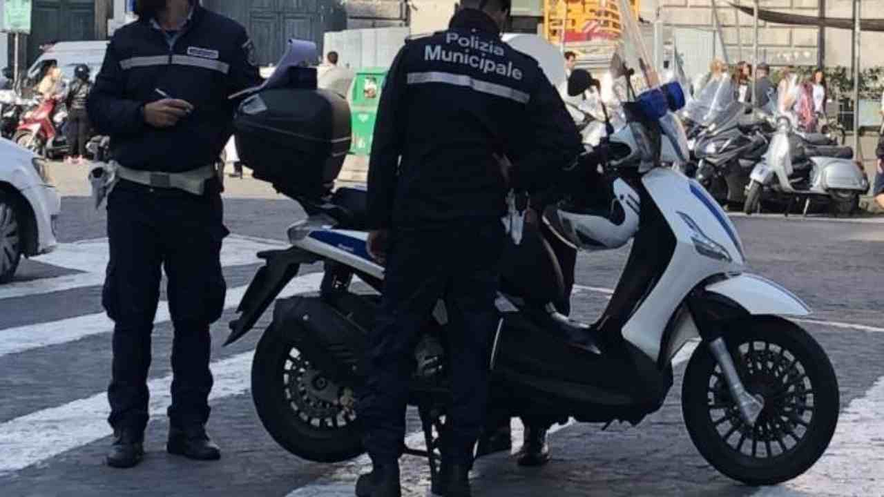 vigili positivi Napoli