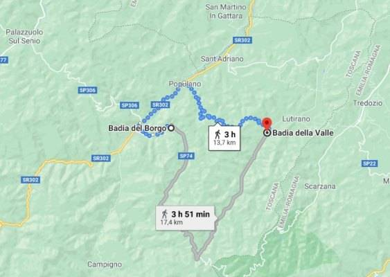 Percorso per gli appassionati di trekking raccogliere castagne Firenze