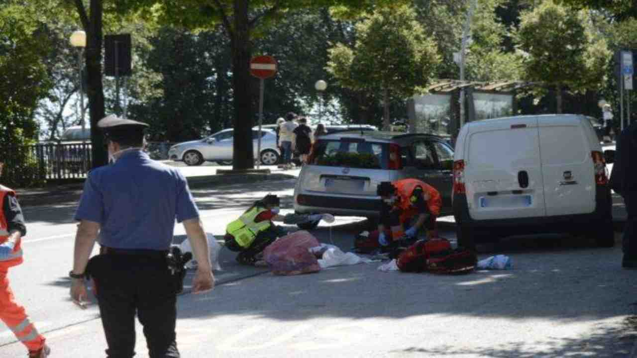 incidente in bici Roma