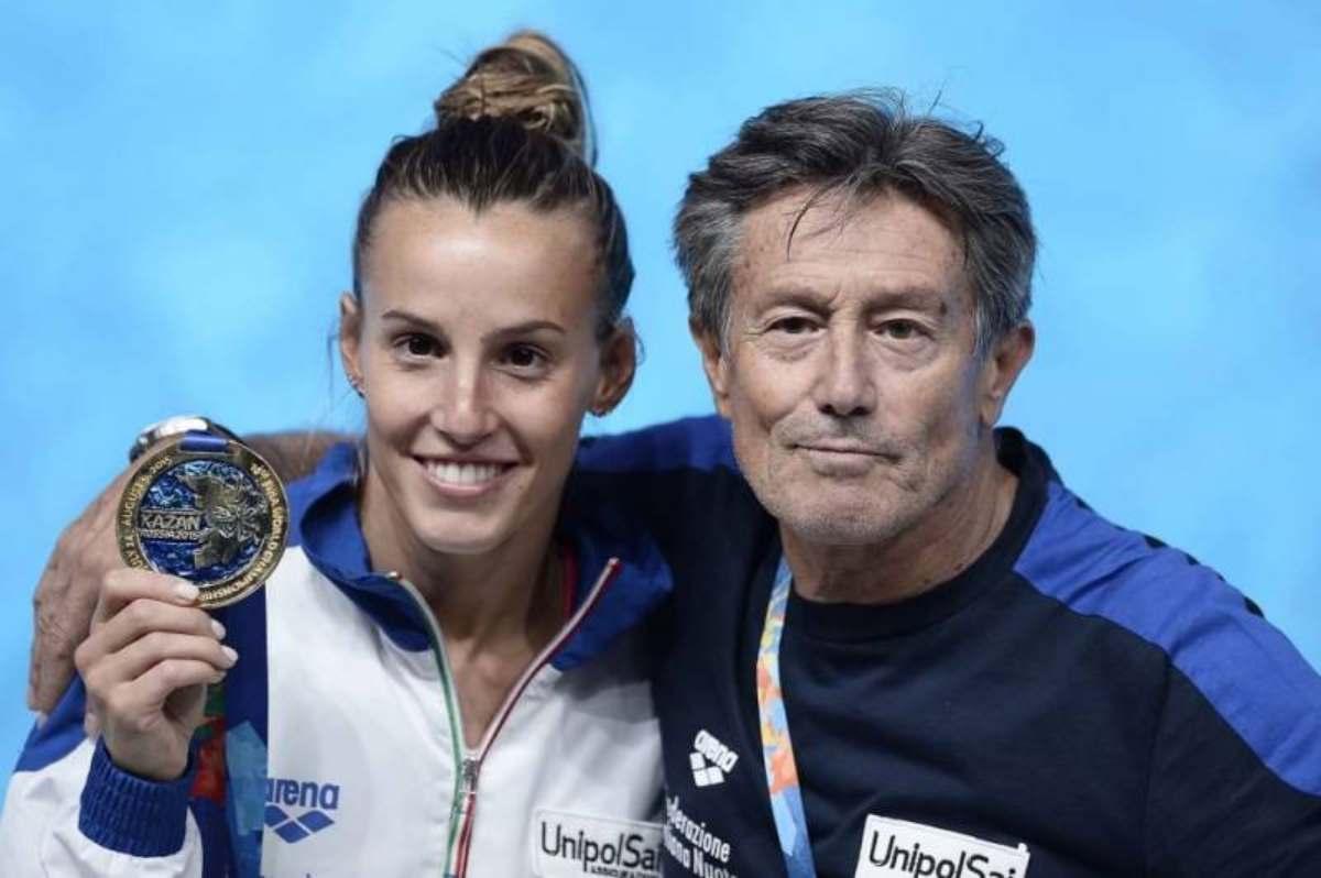 Tania Cagnotto |  chi è il padre Giorgio |  anche lui tuffatore straordinario