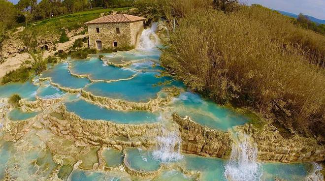 Le Cascate del Mulino a Saturnia (Grosseto)
