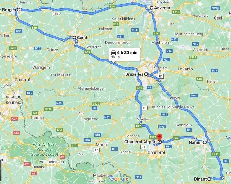 itinerario belgio