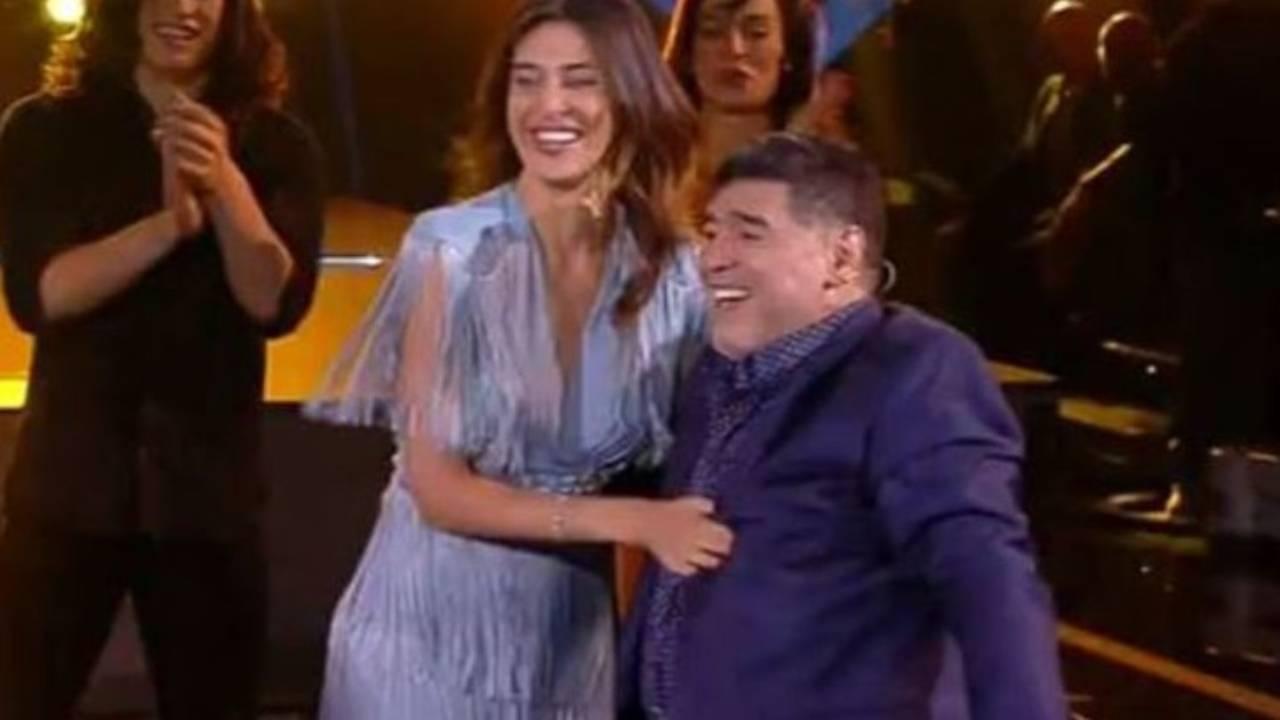 Belen Rodriguez Maradona tango