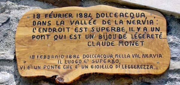 Le parole di Monet su Dolceacqua Dolceacqua borgo Liguria Monet