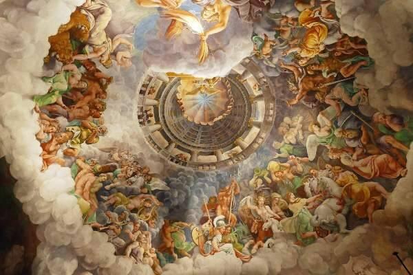 Affresco ne La Sala dei Giganti Lombardia cosa vedere Mantova