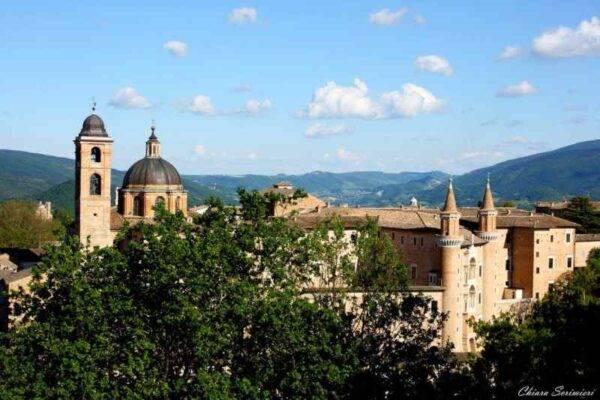 Panorama su Urbino da Fortezza Albornoz Marche cosa vedere Urbino