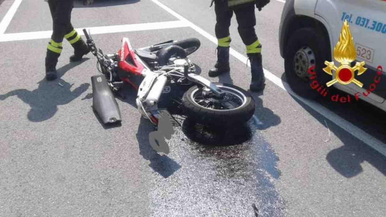 incidente stradale Verona moto