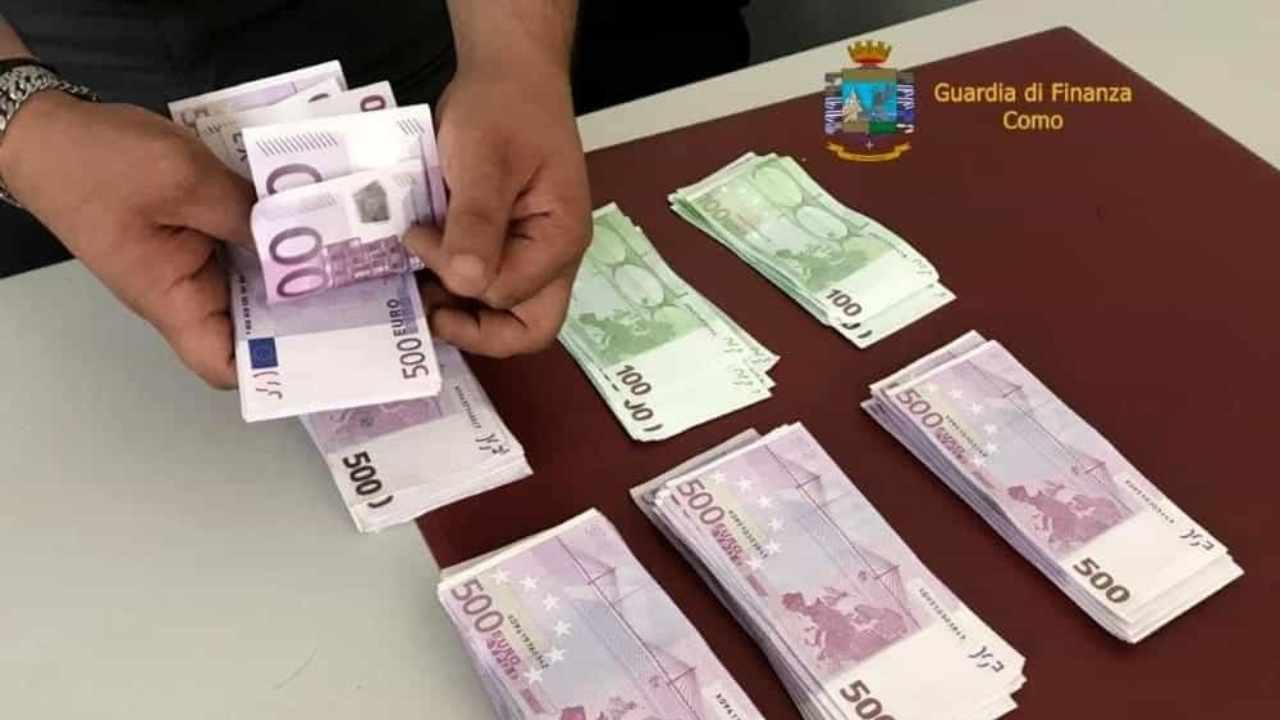 sequestro di denaro slip