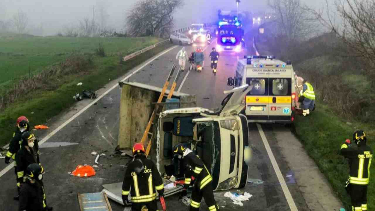 incidente Pavia morto